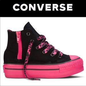 Converse CT Platform Side Zip Black Pink